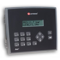 Micro OPLC 16 ED + 2 EA + 2 E duales/11 SD a relé + HMI 2 líneas de texto 24VDC - Puerto USB - IP66