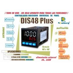 REGULADOR 48x48 E/S UNIVERSAL 24...230VUC (NFC)